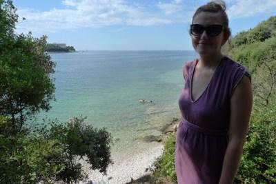 Our first beach view in Croatia.