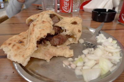 Classic Bosnian snack called Cevapi (pronounced Ch-va-pi