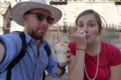 Frozen yoghurt is big in Europe! Unreal!