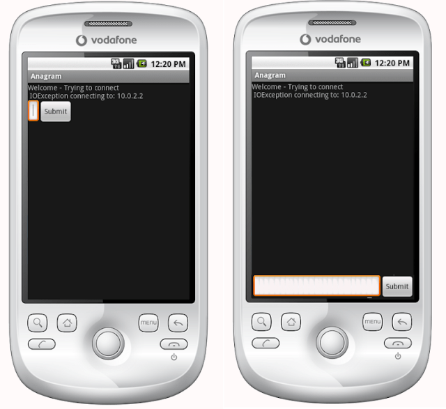 Android Layout - Actual (Left) and Desired (Right)