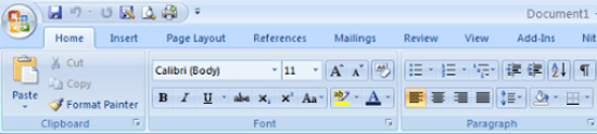 office 2010 menu