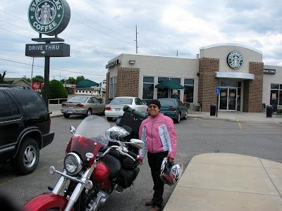 Yep, the stereotypical Adventure Riders at Starbucks