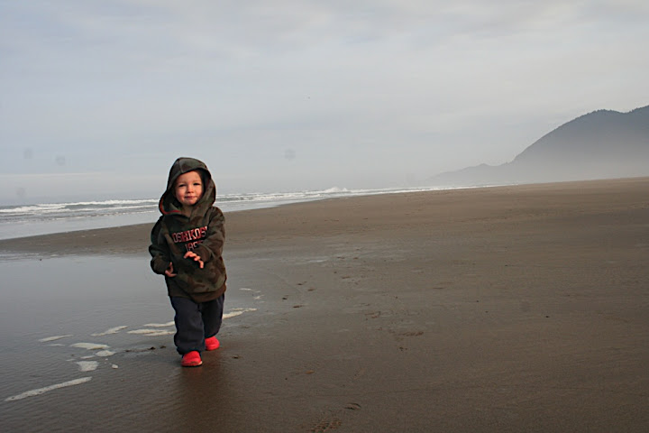Enjoying the miles of sand and sea at Nehalem Bay