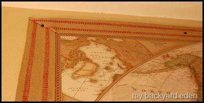 Jute Framed Map