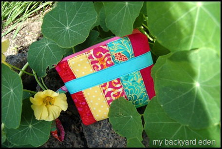 patchwork wristlet
