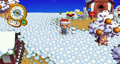 Snowman melting.