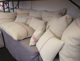 the estate of things chooses feedsack pillows