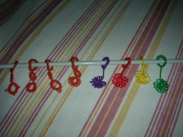 Colourful stitch markers