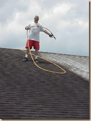 big roof cleaning