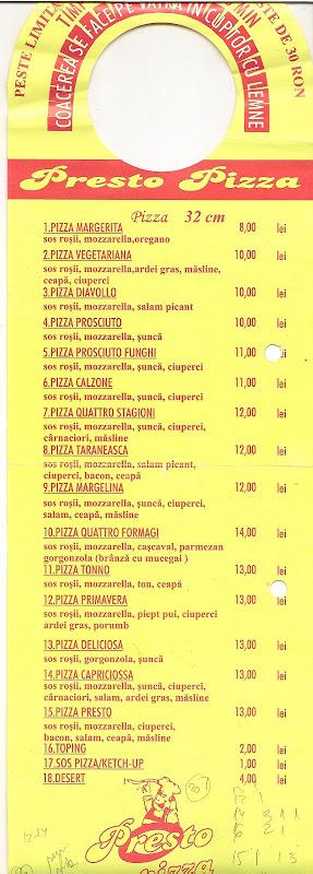 Pliant Presto Pizza 2007 spate