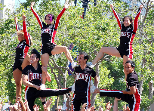 This is one PEPPY cheer squad: SF Cheer!