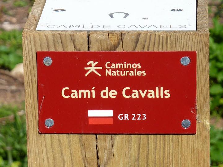 Postes Cami Cavalls y GR 223 en Menorca