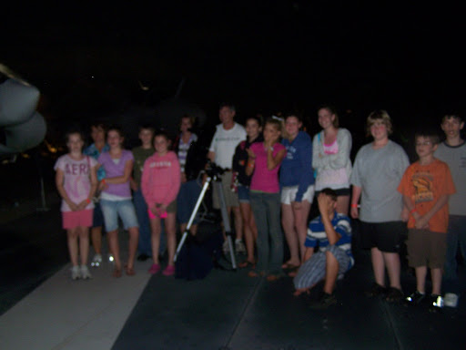The end of a long day ends by looking at Saturn through a 5 inch reflecting telescope during our astronomy class.