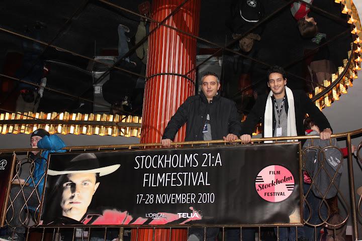 Khaled Abol Naga and Mohamed Hefzy at stockholm Film Festival