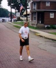 George Madzia in the Adena 5K Run/Walk, July 4, 1995