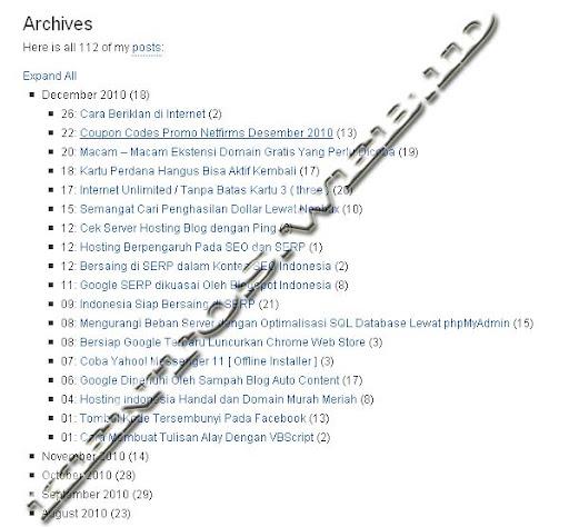 Membuat Daftar Isi Blog Otomatis Dengan Plugin Clean Archives Reloaded