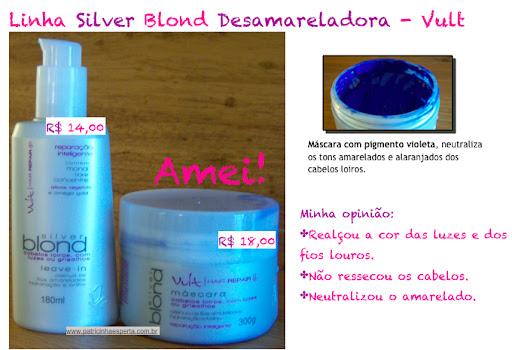 silver - Linha Silver Blond Vult - Neutraliza o amarelado dos cabelos loiros