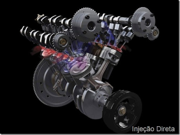 Ford's EcoBoost Engine In Action: Spent gasses are pushed through the exhaust valves, where they are routed to the turbochargers for the efficient conversion of exhaust gasses into energy to drive the turbochargers.