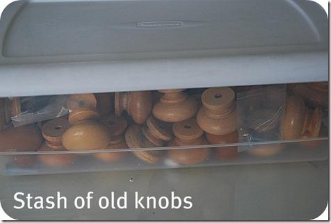 stash of old knobs