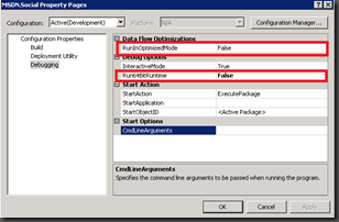SSIS Fuzzy Lookup issue in 32bits - project settings