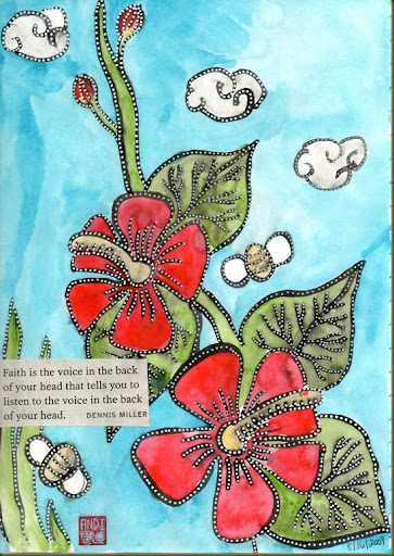 hollyhock page for fabric