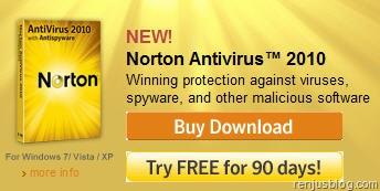 norton 2010 antivirus free license