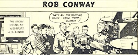 The first panel of Rob Conway from Eagle Issue 1