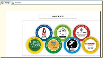 1 Home Page section