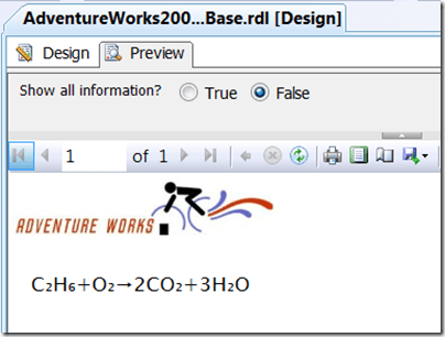 Preview report with equation