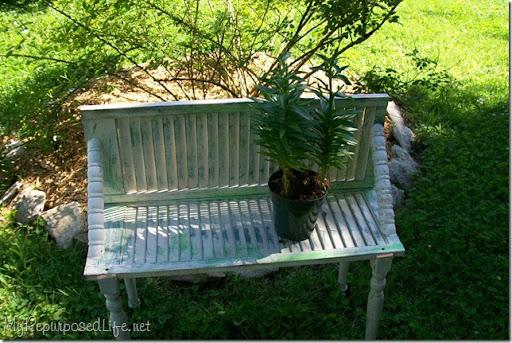 shutter plant bench
