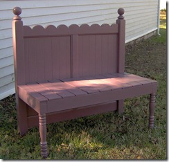 how to make a scalloped headboard bench