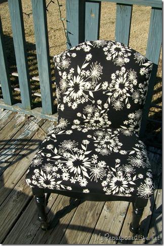 upholster caned back chair