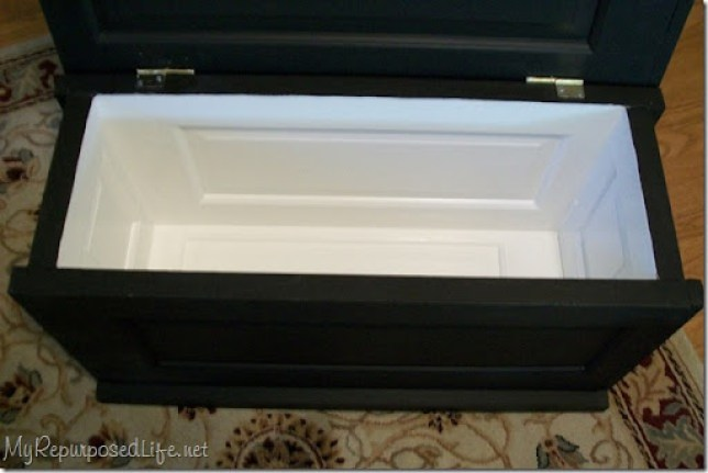 hollow core door blanket chest