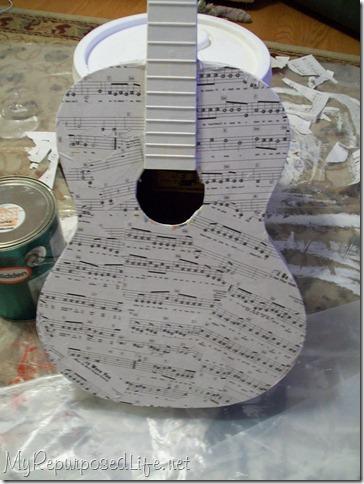 decoupaged guitar