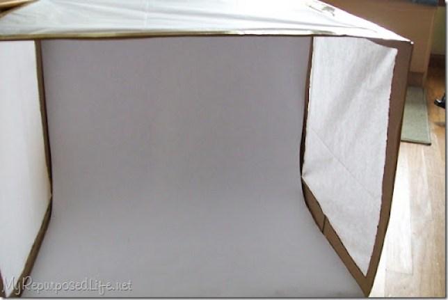 cardboard box light box