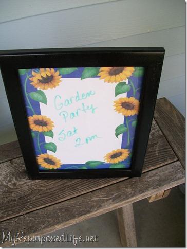 picture framed dry erase board