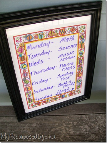 dry erase board from a picture frame