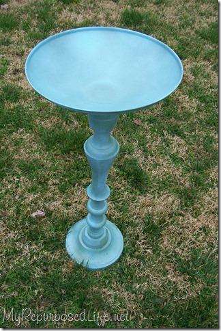 candlestick pot lid birdbath