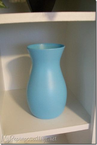 spray paint glassware aqua