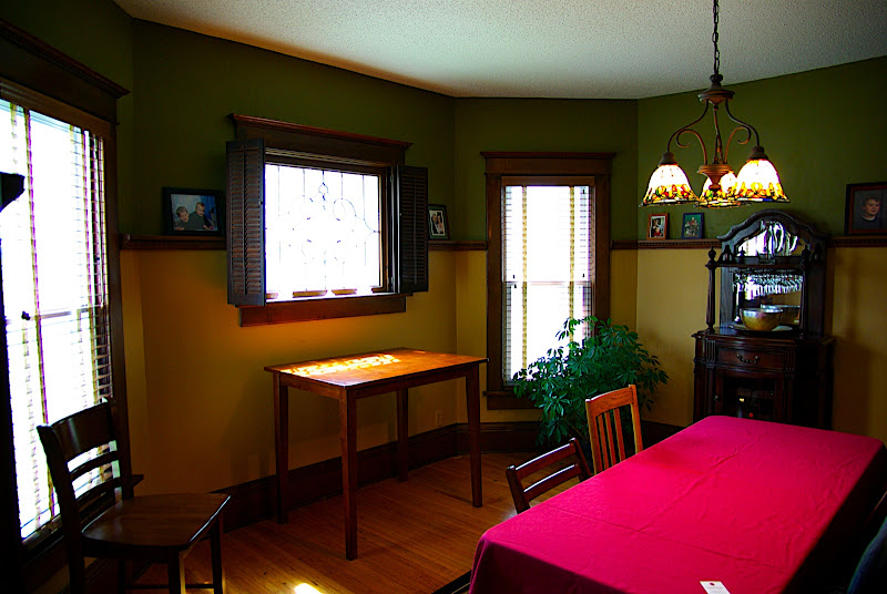 The dining room - its just off the living room.