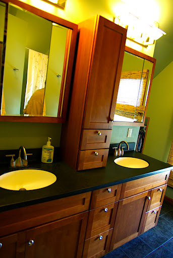 Double vanity in the master bath.  We might change the mirrors - well see.
