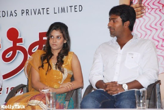 Hero Shanthanu and heroine Shanthini at Siddhu Plus 2 Press Meet