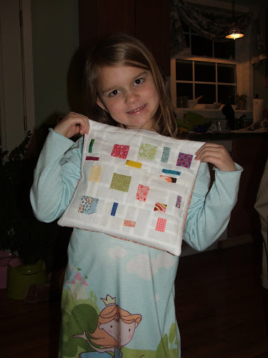 this one still needs quilted, its a bit smaller than the one we made for grandma