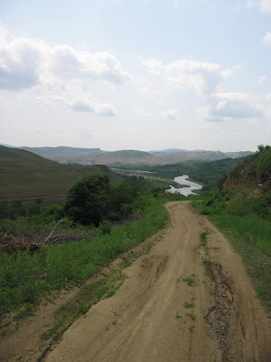 Tumen River south of Tumen City -- photo by Chuck Kraus on assignment with Adam Cathcart