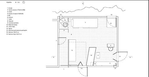 Le Cabanon de Le Corbusier en la ETSAC (5/6)