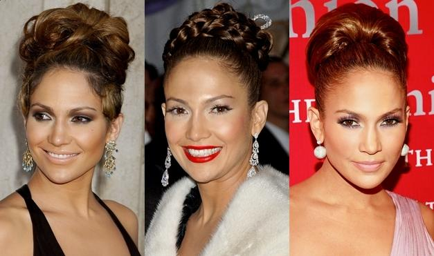 Jennifer Lopez's messy updo