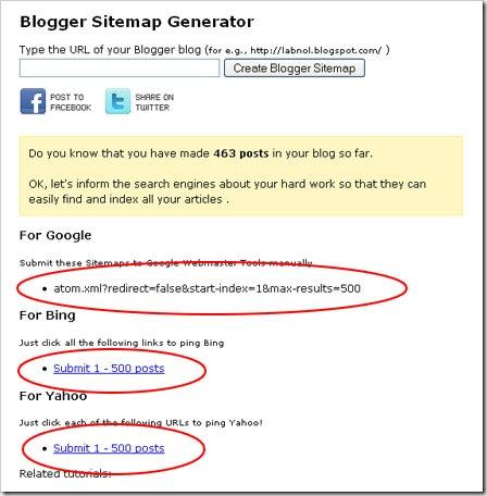 Blogger Sitemap Generator Solusi Submit Sitemap Blog Anda
