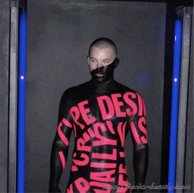 Type Design under black lights - MAC Pro Makeup Event