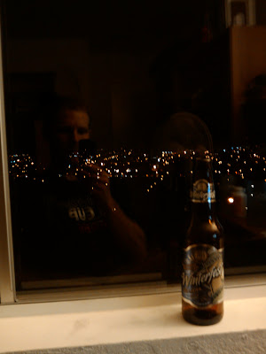Winterfest Double Bock Lager and the lights of Santa Barbara