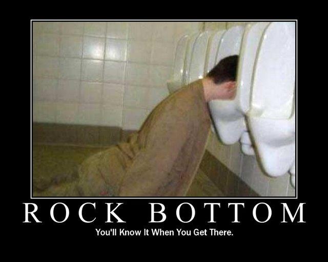 rock bottom motivational poster